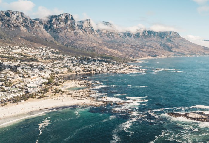 Staff pick. Image of the South African coast.